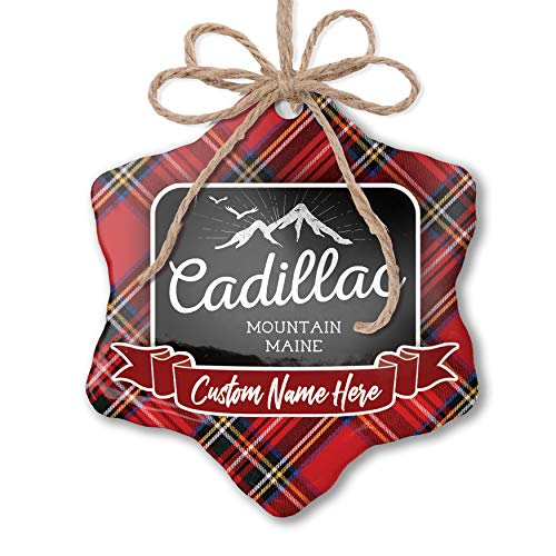 NEONBLOND Customizable Ornament Mountains Chalkboard Cadillac Mountain - Maine add Your own Text!]()