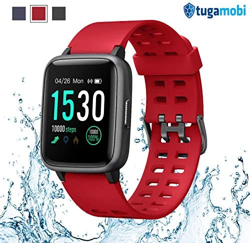 tugamobi Smart Band SB501, Fitness Activity Step Tracker Health Exercise Smartwatch Pedometer Heart Rate Sleep Monitor 5ATM Waterproof Calorie Alarm Clock Compatible with Samsung iPhone for Men Women