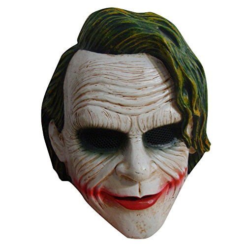 [Ace Halloween Adult Men Scary Dark Knight Evil Mask] (Mens Evil Knight Costumes)