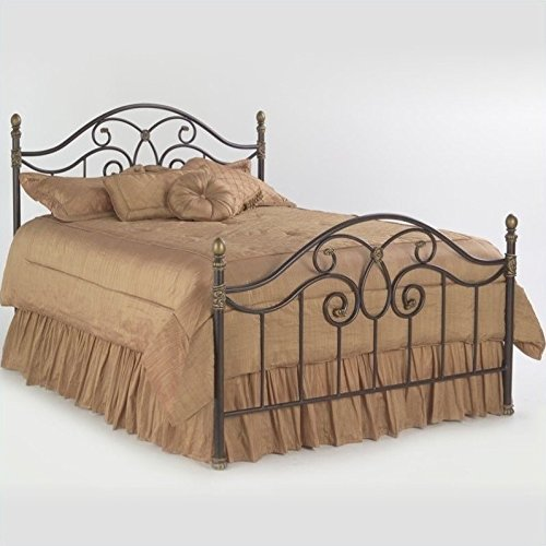 Fashion Bed Group Dynasty Metal Bed in Autumn Brown Finish Queen -
