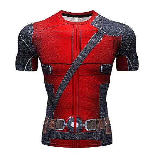 Superhero Compression Shirt Slim Fit Stylish Short/Long Sleeve DP Tight Tees L -