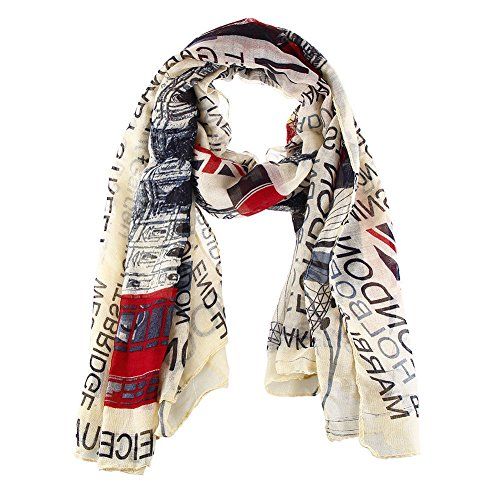 Jian Ya Na Union Jack Scarf London Souvenir Gift Soft...