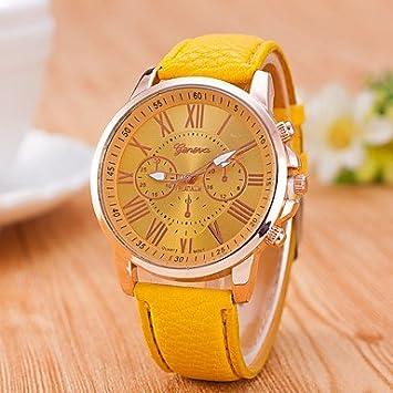 Bellos Relojes, reloj mujer Geneve nueva muñeca relojes para hombres y mujeres reloj de cuarzo