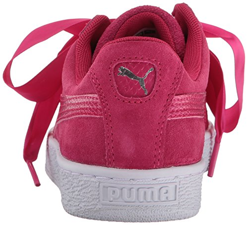 PUMA Unisex-Kids Suede Heart Snk,Love Potion/Love Potion,8 M US Toddler