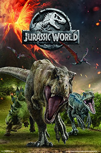 Trends International Jurassic World 2-Group Wall Poster, 22.375