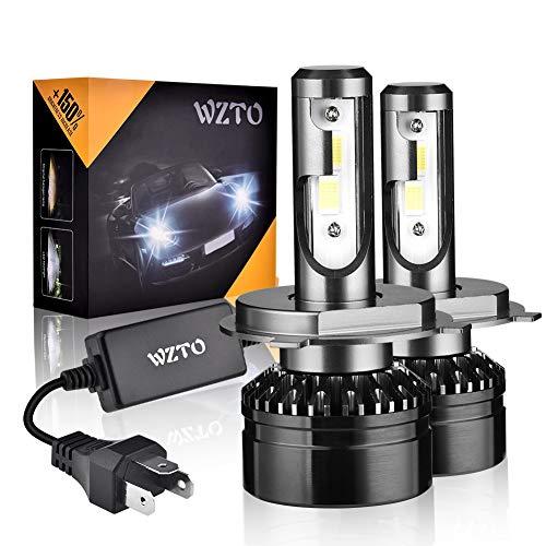 WZTO Bombilla H4/9003 LED, 10000LM Faros Delanteros 60W (30W * 2) 6000K Bombillas LED Coche Kit IP65 Impermeable Reemplazar LED Lámparas DC 12V-24V - Blanco ...