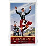 Highland Games - BR (ScR) poster 1948-1965 - Microfibre Tea Towel - 10170647 - Makes an Ideal Gift by personalised4u