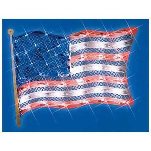 15 Lighted Patriotic Fourth of July American Flag Window Sil