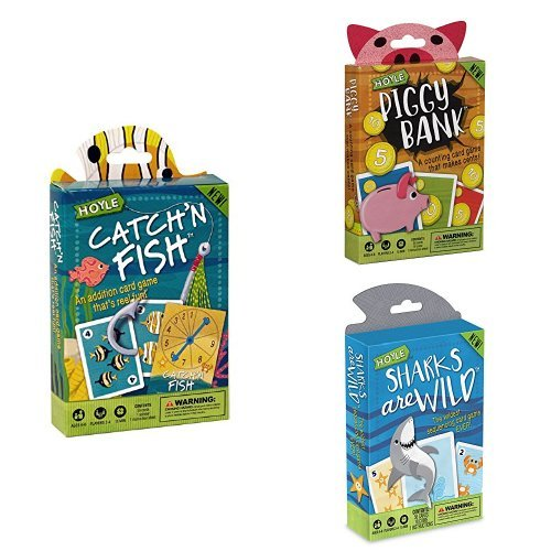 Hoyle Children's Card Games- Catch'n Fish, Piggy Bank, Sharks are Wild, 3 Games Bundle! by