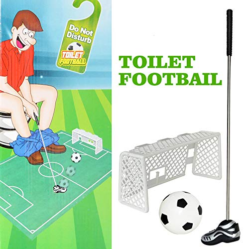 Euone  Toilet Toys, Toilet Mini Soccer Golf Toy Bathroom Game Novelty Putting Gift Toy Trainer Set