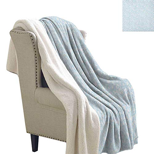 Suchashome Baby Sherpa Throw Blanket Hearts Background with Teddy Bears Strollers Infant Clothes Newborn Child Theme Blanket Small Quilt 60x32 Inch Pale Blue White