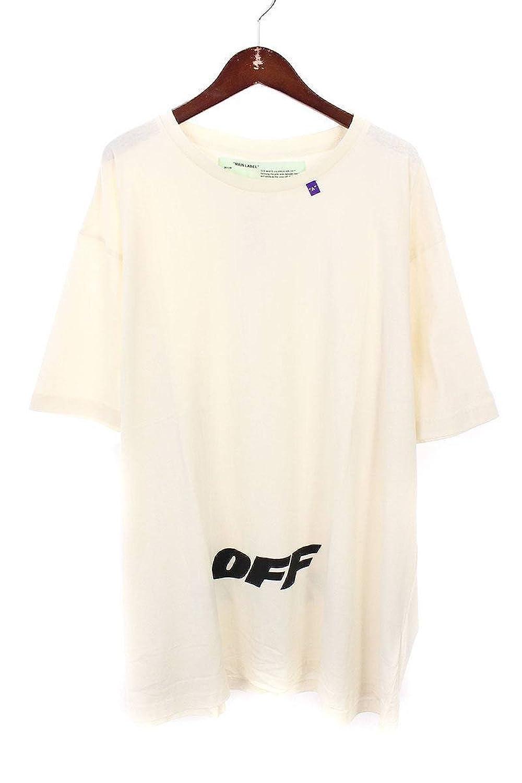 (オフホワイト) OFF-WHITE 【18AW】【WING OFF S/S T-SHIRT】ロゴプリントオーバーサイズTシャツ(L/ホワイト) B07FQR46VM  -