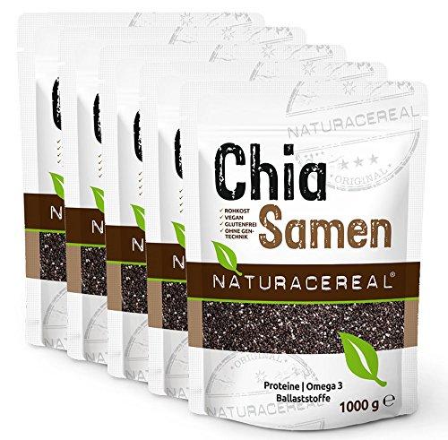 Semillas de Chia de Calidad Premium 5 x 1kg NATURACEREAL