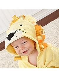 Highdas Baby Bathrobe Bath Towel Infant Cotton Blankets Coated Nightgown 0-3years (Yellow Lion)