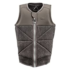 The Follow 2018 Beacon Cody is the finest impact vest in all the land. Featuring a single front zip, triangle flex stitching, 3/4 marble digital sublimation and stretchy neoprene. BOOM! Good as it gets! WARNING: This wake vest IS NOT approved...