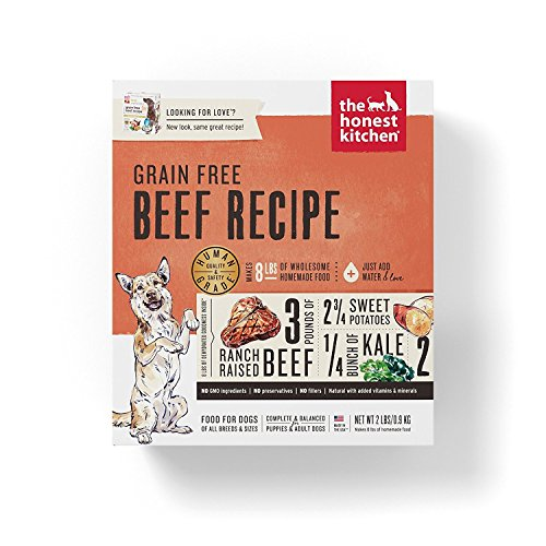 Honest Kitchen The Human Grade Grain Free Beef Dehydrated Dog Food, Love 2 lb by Honest Kitchen