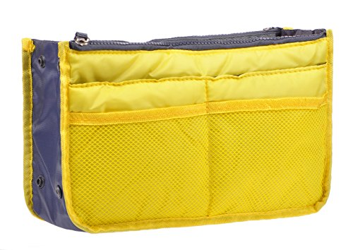 Insert Handbag Purse Travel Organizer Bag Multi-pocket Tidy Bags For Multipurpose (yellow)