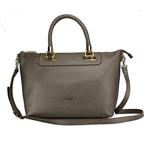 LIU JO ANNA SHOPPING BAG E/W N67094E0087-W9863 Pale brown metal.