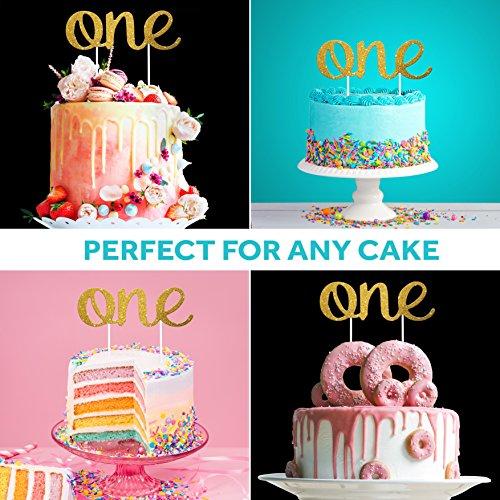 Fantastic 1St Birthday Cake Topper Stunning One Gold Glitter Birthday Funny Birthday Cards Online Fluifree Goldxyz