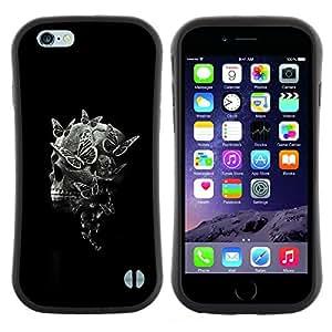"""Pulsar iFace Series Tpu silicona Carcasa Funda Case para Apple iPhone 6+ Plus / 6S+ Plus (5.5 inch!!!) , Negro del cráneo de la muerte Significado Profundo Negro"""""""
