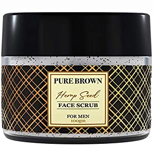 Pure Brown – Men Face Scrub & Cleanser – Hemp Facial Scrub For Men – Natural Daily Exfoliator – Face Energizing Scrub…