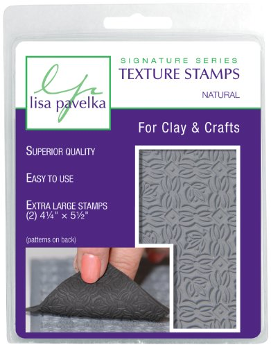 Lisa Pavelka 327023 Texture Stamp Kit Natural by JHB International Inc