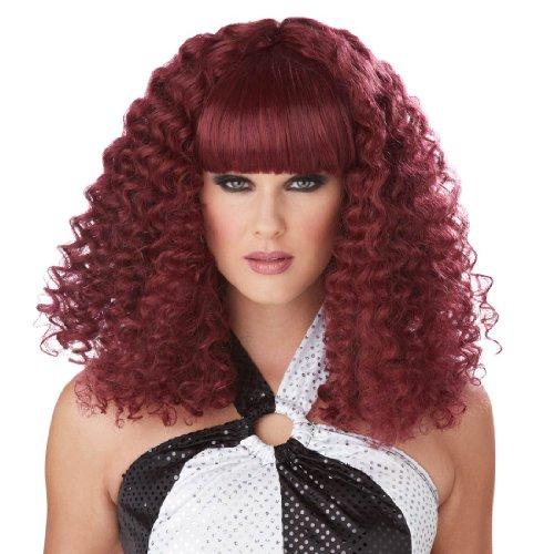[Disco Lady Wig (Burgundy;One Size)] (Mermaid Wig In Auburn)