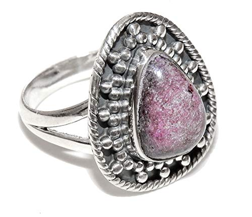 SunnyCrystals Sugilite Ring Sterling Silver Natural Purple Gemstone Hand Crafted Crystal Jewelry Size 7.25 SGLR004