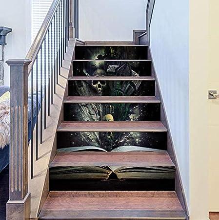 akeansa Pegatinas de la Escalera Escaleras de Halloween Pegatinas Pegatinas de Pared Decoración de la Pared del Piso Decoración de la Sala 189 18X100Cm DIY 3D: Amazon.es: Hogar