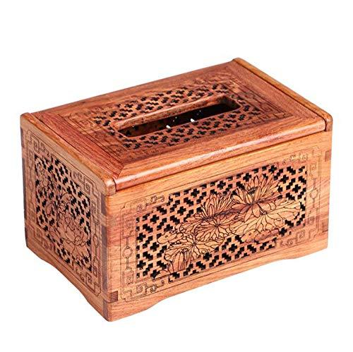 ZH Solid Wood Tissue Box Holder Drawing Box Desktop Coffee Table Napkin Box Storage Box (Size : 18x12x10.5cm) ()
