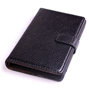 Pdncase Genuine Leather Case Book Style Lychee Pattern with Magnetic Closure Button Compatible for Sony LT36H Color Black