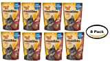 Pack of 8 - Meow Mix Irresistibles Cat Treats, Crunchy with Salmon and Ocean Whitefish, 11 oz