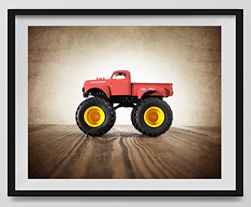 Vintage Monster Truck Photo ''51 Ford'', Boys room Wall art, Photo Decor, Monster truck room, Nursery decor, Kids Room Wall Art. by Saint and Sailor Studios
