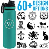 Tempercraft 22oz Vacuum Insulated Sport Bottle Custom Engrave Turquoise Deal (Small Image)