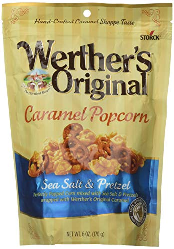 Werthers Original Sea Salt Popcorn, Caramel and Pretzel, 6 Ounce (Pack of 2) -
