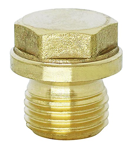 (1pc) BelMetric M16X1.5 Flanged Brass Hex Head Corrosion Resistant Plug DIN 910 for Machinery and Fittings Sealing Washer Included DP16X1.5HBRS from BelMetric