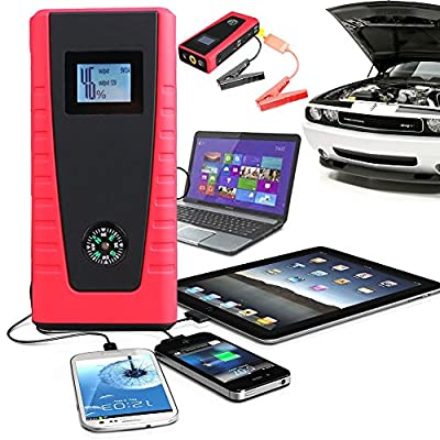 Indigi Portable Heavy Duty 12000mAh Emergency Car Jump Starter Pack w/ Laptop & USB outlets for portable charging