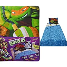 3-Pc Twin Bed Sheet Set: Nickelodeon Teenage Mutant Ninja Turtles, Cotton Rich