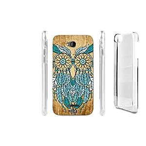 FUNDA CARCASA EFECTO MADERA OWL BLUE DREAM PARA HTC DESIRE 616