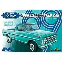 Moebius 1969 Ford F-100 Custom Cab Short Bed Plastic Model Truck Kit