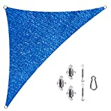Cool Area Right Triangle 16'5'' X 16'5'' X 22'11'' Sun Shade Sail with Stainless Steel Hardware Kit, UV Block Fabric Patio Patio Shade Sail in Color Blue