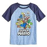Jumping Beans Boys 4-10 Nintendo Super Mario Bros. Rad Raglan Graphic Tee 6 Royal Navy