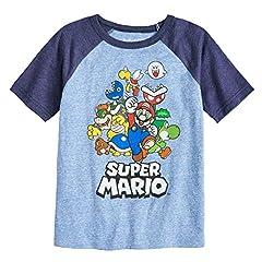 Boys 4-10 Jumping Beans Nintendo Super Mario Bros. Rad Raglan Graphic Tee