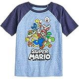 Jumping Beans Boys 4-10 Nintendo Super Mario Bros. Rad Raglan Graphic Tee 8 Royal Navy