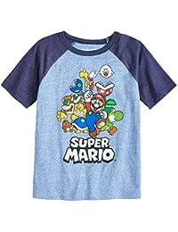 Boys 4-10 Nintendo Super Mario Bros. Rad Raglan Graphic Tee 6 Royal Navy