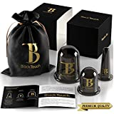 BlackTouch Cellulite Cup Cupping Vacuum Set - Suction Massage Cups - Therapy Massager - Silicone Chinese Anti Aging Facial and Body Set