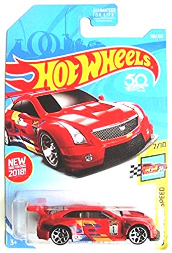 Hot Wheels 2018 50th Anniversary Legends of Speed '16 Cadillac ATS-V R 198/365, Red