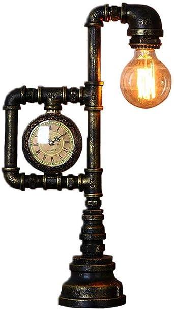 SPA ® Industrial Estilo Retro Pipa de agua Lámpara de mesa Lámpara ...