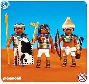 PLAYMOBIL 7383 3 Soldados del Faraón: Amazon.es: Juguetes y juegos