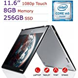 "Lenovo Yoga 700 2-IN-1 11.6"" FHD Touchscreen 1080p IPS Display Laptop PC, Intel Dual Core M5-6Y54, 8GB RAM, 256GB SSD, Bluetooth, Windows 10 Home (Certified Refurbished)"